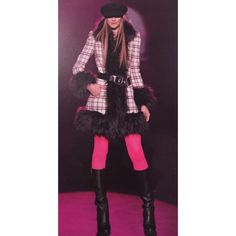 Betsey Johnson Vintage Faux Fur Wool Blend Coat Nwt 2012 Runway Betsey Johnson Vintage Plaid Tartan Tweed Faux Fur Wool Blend Coat Size 4  You won't get a chance to own this coat again! Slightly structured sleeves. Coat is in brand new condition Coat was featured on the runway!  It is extremely rare and a true Betsey statement piece. As scene on many stars!   Size-4 The size tag is missing  Rare sold out style Any questions please ask.. Betsey Johnson Jackets & Coats