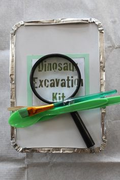 diy dinosaur digging kit.. I can't wait until Levi is old enough to understand this, @Shalee Sykes!