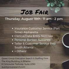 We're hiring in Suwanee, Norcross, and Atlanta! Chat with us on Thursday.