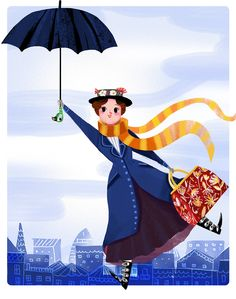 giovanamedeiros: Yesterday's @sketch_dailies was #MaryPoppins!