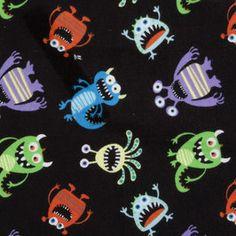 Monster Toss Flannel-flannel fabric monster toss