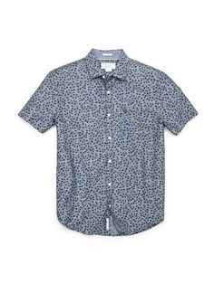 Ivy Leaf Chambray Short Sleeve Shirt by Penguin