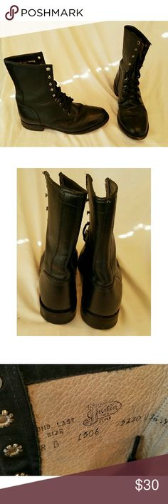 Vintage leather boots Justin's vintage leather lace up boots. In great condition size 8. Justin Boots Shoes