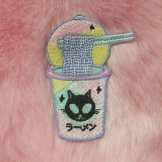 BLACK FRIDAY SALE-KOKO KAWAII ALIEN CAT RAMEN PATCH
