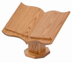 Display your Bible in style with this beautiful solid oak wood Table Top Bible Stand!