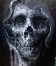 Dark Fantasy Art, Dark Art, Anatomy, Creatures, Painting, Drawings, Skulls, Horror Artwork, Skeletons