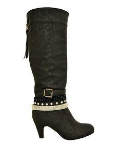 Look at this #zulilyfind! Black Alla Boot #zulilyfinds $27.99