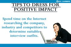 8 Tips To Dress For #Interview Success. #seekcareerz #resume #jobs