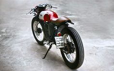 Suzuki GN125 Duong Doan's Red Cafe Racer | Inazuma café racer