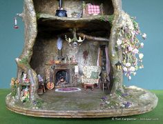 Some portfolio pics before my fairy house sculpture constant companion of the last 5 months leaves for its new home. Thanks for looking! :) Tori