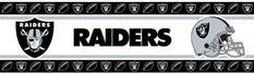 NFL Oakland Raiders Wall Border  https://allstarsportsfan.com/product/nfl-oakland-raiders-wall-border/  Sports Coverage NFL Oakland Raiders Wall Border
