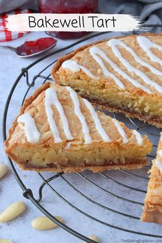 Recipe for the classic British Bakewell Tart - a sweet shortcrust pastry tart filled with raspberry jam and almond frangipane #thebakingexplorer #bakewelltart #britishfood #shortcrustpastry #frangipane Shortcrust Pastry Tarts, Savory Pastry, Homemade Desserts, Delicious Desserts, Bakewell Tart, Tart Filling, British Baking, Sweet Tarts, Baking Recipes