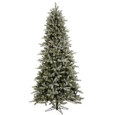 4.5' Vickerman A101046 Frosted Frasier Fir - Frosted Christmas Tree