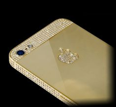 Fancy - Swarovski Gold iPhone 5 how much would that cost Collor, Technology Gadgets, Wearable Technology, New Gadgets, Cute Cases, Apple Products, Apple Iphone, Swarovski, Iphone Cases