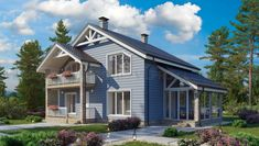 Современный дом из газобетона Shed, Outdoor Structures, Cabin, House Styles, Home Decor, Decoration Home, Room Decor, Cabins, Cottage