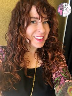 Naturally Swavy wavy copper curls by Carleen Sanchez  Curly and Wavy hair Salon 775.721.2969