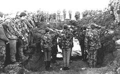 Falklands burial - although never officially at war, there was a terrible human cost on both sides.