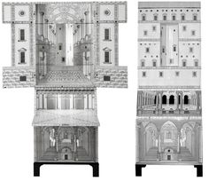 "The ""Architettura"" trumeau-bar by Piero Fornasetti. First exhibited in 1951."