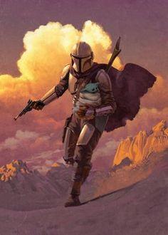 Star Wars Fan Art, Star Wars Cute, Star Wars Art Prints, Star Art, Images Star Wars, Star Wars Pictures, Regalos Star Wars, Mandalorian Poster, Mandalorian Armor
