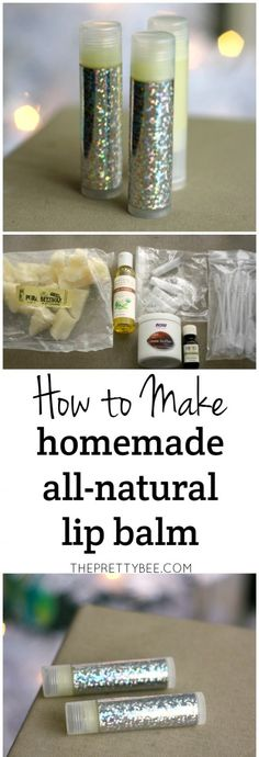 It's easy to make your own homemade lip balm with this tutorial.