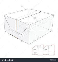 Cookies And Cardboard Box Top And Die-Cut Pattern Stock Vector Illustration 180424109 : Shutterstock