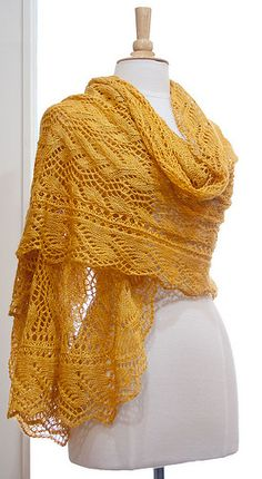Ravelry: Project Gallery for Print O' the Wave Stole pattern by Eunny Jang