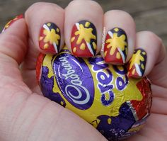 Cadbury. This is different and cute!