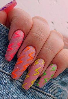 Long Nail Designs, Simple Nail Designs, Acrylic Nail Designs, Art Designs, Gel Nagel Design, Pink Acrylic Nails, Coffin Shape Nails, Ballerina Nails, Gel Nails