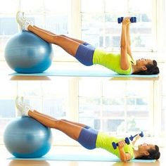 Ball bridge fly - Try this total-body routine to shrink a size in a month