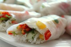 Spring Rolls. A great no-cook food.