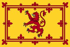 The Royal Banner of Scotland - The Lion Rampant. 9th December 1165 saw the death of King Malcolm IV, aged 24 and unmarried. He was succeeded by his younger brother William I or William the Lion after his symbol, a red lion rampant on a yellow field that becomes the basis of one of Scotland's two flags.