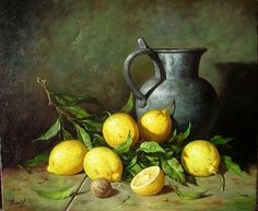 Famous Still Life Paintings, Painting Still Life, Dutch Still Life, Still Life Art, Lemon Painting, Still Life Images, Color Of Life, Still Life Photography, Artist Painting