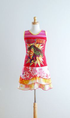 Upcycling Clothing | Clothing Children Clothing Upcycled Dress Superhero Dress Kids Clothes ...