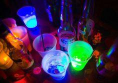 Vasos neon muy espectacular