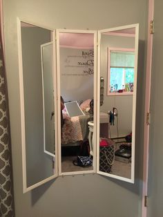 The three way mirror turned out nice!
