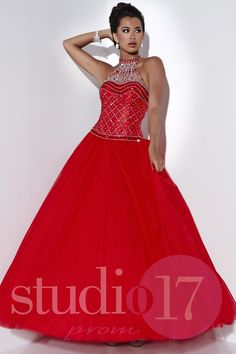 778d515bf2 Studio 17 Style 12535 Rule the prom in this Cleopatra-inspired tulle ball  gown