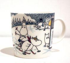 "Moomin Mug Winter 2014 ""Skiing With Mr. Brisk "" Arabia Finland New"