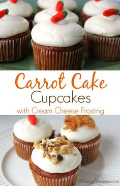 Guaranteed to be moist and delicious, this homemade from scratch,Carrot Cake Cupcake with Cream Cheese Frosting recipe is a sure winner!