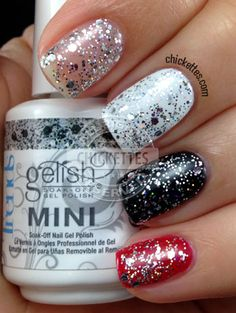 Gelish trends - am i making you gelish? nail art in 2019 ног Great Nails, Fabulous Nails, Gorgeous Nails, Love Nails, Amazing Nails, Gelish Nails, Diy Nails, Glitter Nails, Black Glitter