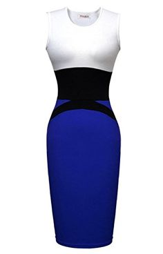 """awesome PAKULA Women's Fashion Midi Contrast Bodycon Pencil Evening Dress -High quality blend fabric keeps you comfortable DO NOT BUY CHEAP KNOCK-OFFS FROM OTHER SELLERS, FOR GUARANTEED QUALITY MAKE SURE TO PURCHASE FROM MoonBeach For Most Accurate Measurements, Please Use the Sizing Chart Image on the Left. Do Not Use """"Sizing Info"""" Link -http://weddingdressesusa.com/product/pakula-womens-fashion-midi-contrast-bodycon-pencil-evening-dress/"""