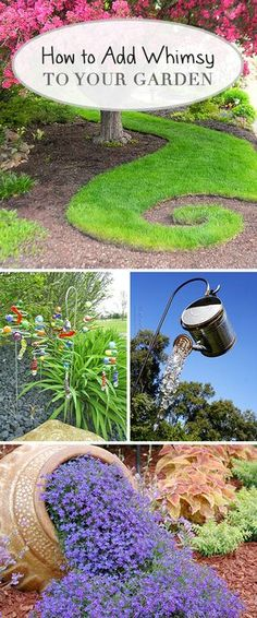 How to Add Whimsy to Your Garden! • Learn how to add whimsy to your garden and check out these great ideas to make your garden a place people want to come back to! Diy Garden Projects, Garden Crafts, Garden Art, Fairies Garden, Outdoor Projects, Garden Ideas Diy, Garden Drawing, Diy Garden Decor, Herb Garden
