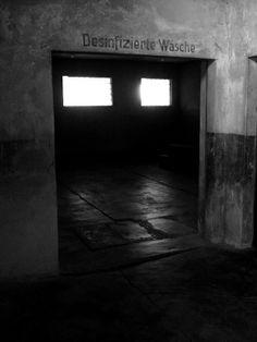 The main sauna buidling in Auschwitz II-Birkenau.