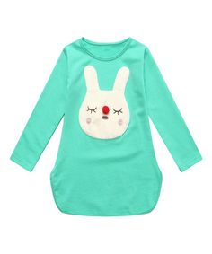 Another great find on #zulily! Green Bunny Tee - Toddler & Girls #zulilyfinds