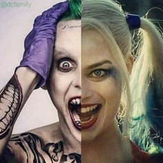 The Joker and Harley Quinn Harley And Joker Love, Joker Photos, Harley Quinn Drawing, Joker Poster, Fire Photography, Daddys Lil Monster, Joker Wallpapers, Joker Cosplay, Sleeve Tattoos