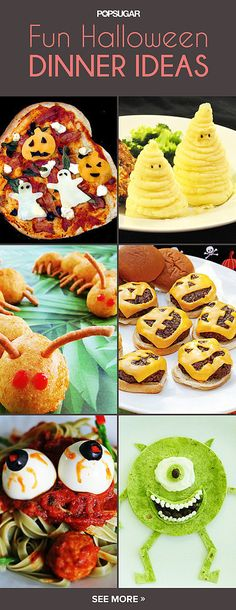 20 Spooky Halloween Dinner Ideas Fall fest, Ideas and Halloween party - spooky food ideas for halloween