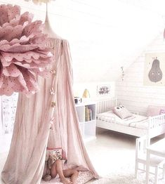mommo design: White and dusty pink in this gorgeous bedroom.