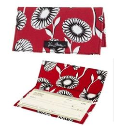 """Vera Bradley Checkbook Cover in Deco Daisy by Vera Bradley. $17.99. Size: 6¾"""" x 3½""""   Paying bills might just become fun. Give your checkbook a whimsical wrap with these simple, pretty covers."""