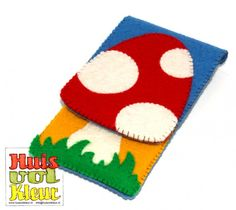 Free Felt Toadstool Cell Phone Cover Pattern and Tutorial