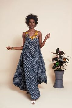 Image of Bendu Tent Dress - Indigo More