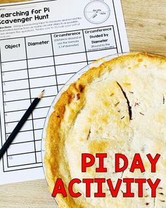 Pi Day Activity: Scavenger Hunt for Middle School Pi Day, The Middle, Middle School, Amy, Celebration, Students, Classroom, Treats, Teaching